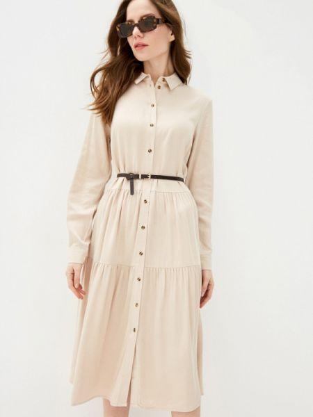 Платье платье-рубашка бежевое Zarina