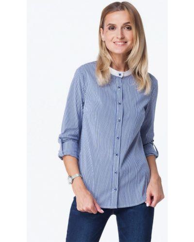 Синяя блузка осенняя Vilatte