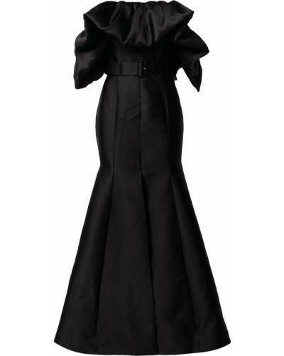 Пышное черное платье макси без рукавов Solace London