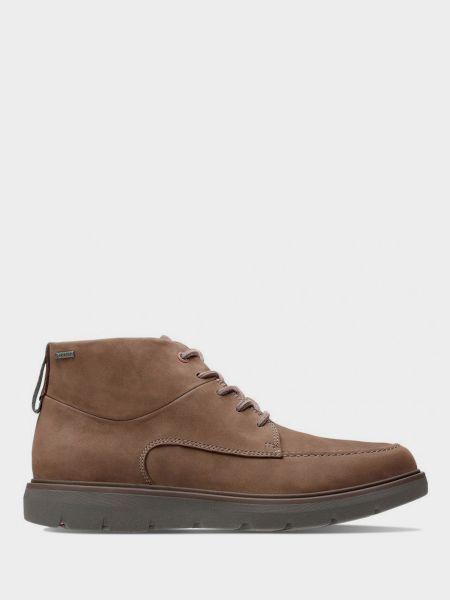 Ботинки из нубука - коричневые Clarks
