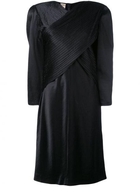 Однобортное платье винтажное с вырезом Krizia Pre-owned
