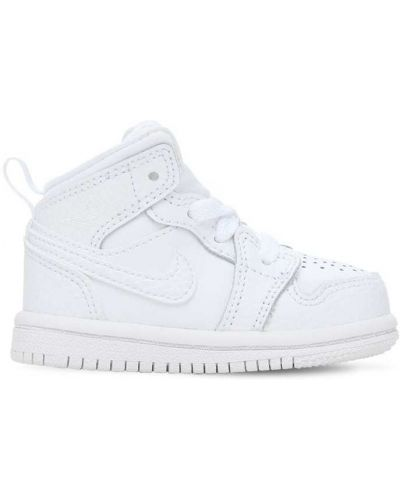 Ażurowy skórzany biały skórzane sneakersy na sznurowadłach Nike