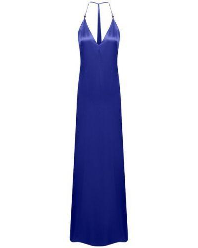Синее платье из вискозы Galvan  London