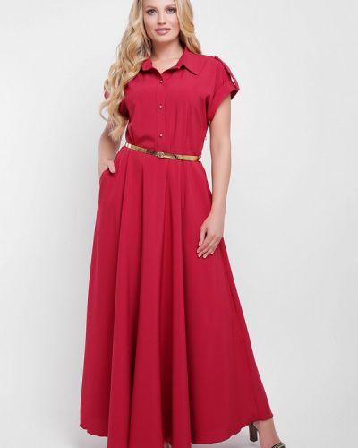 Красное платье весеннее Vlavi