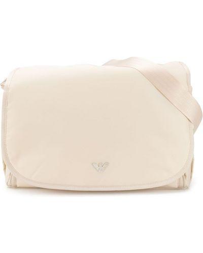 Хлопковая сумка с карманами Emporio Armani Kids