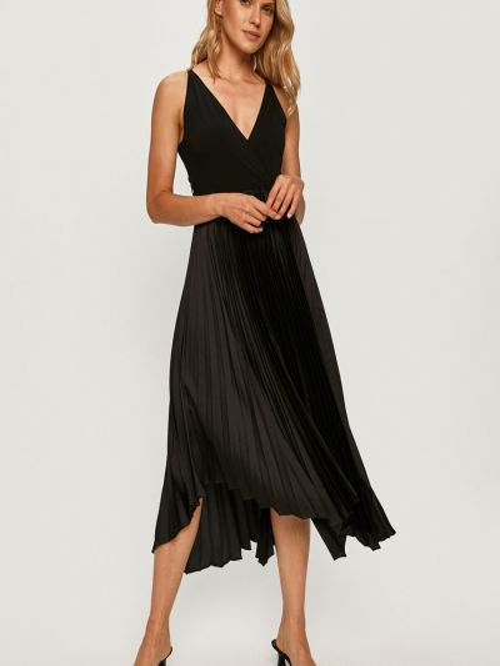 Платье с V-образным вырезом - черное Marciano Guess