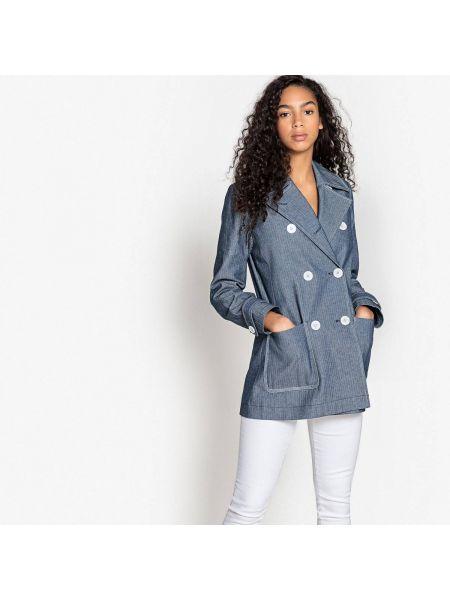 Пальто с воротником бушлат La Redoute Collections