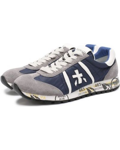 Кроссовки замшевые на шнуровке Premiata