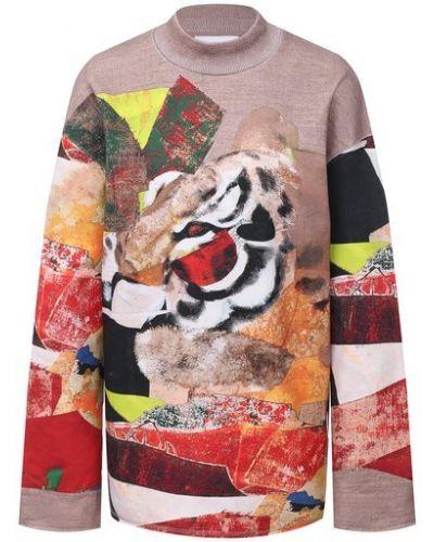 С рукавами трикотажный пуловер свободного кроя Kenzo