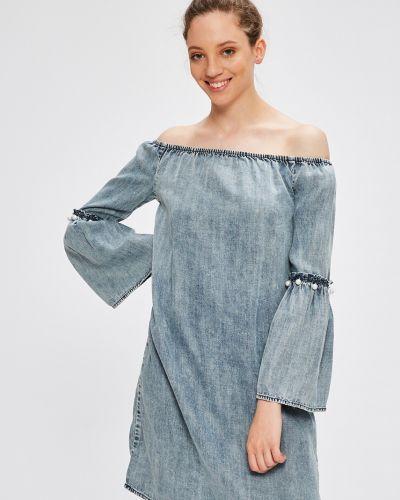 Платье мини однотонное свободного кроя Only