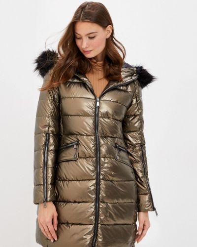 Теплая зимняя куртка золотая B.style