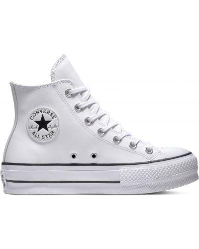 Кожаный топ - белый Converse