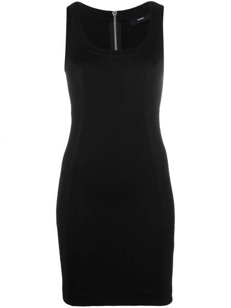 Вязаное черное платье мини без рукавов Diesel