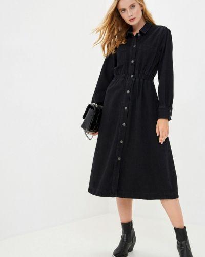 Черное джинсовое платье Selected Femme