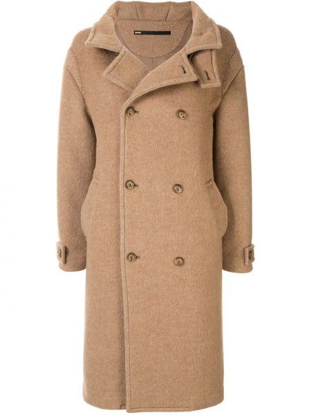 Длинное пальто с капюшоном на пуговицах Muller Of Yoshiokubo