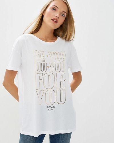 Белая футболка Trussardi Jeans