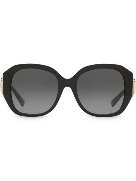 Золотистые черные солнцезащитные очки круглые Valentino Eyewear