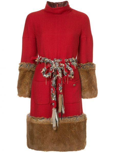 Платье с поясом винтажная с рукавами Chanel Pre-owned