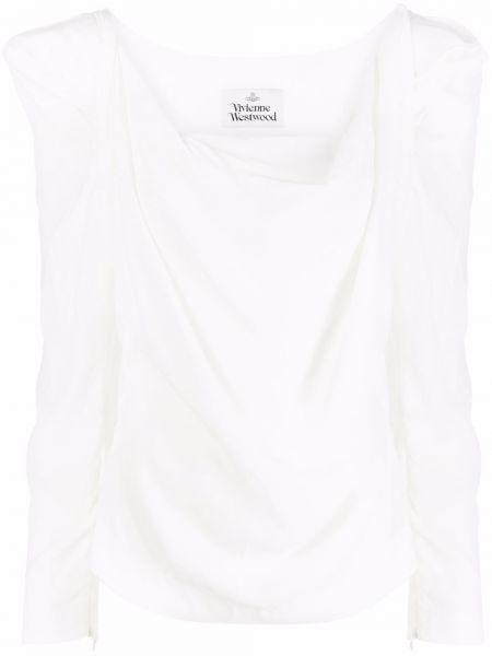 Блузка с вырезом - белая Vivienne Westwood