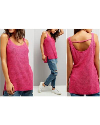 Bluzka asymetryczna - różowa New Look