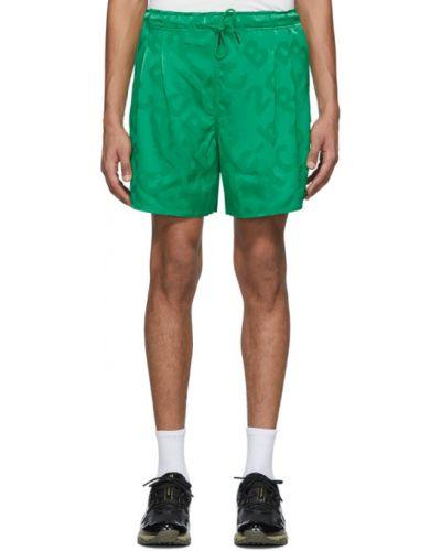 Satynowe zielone spodenki sportowe Rochambeau