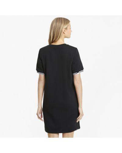 Черное платье с воротником Puma