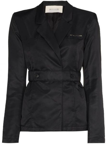 Текстильная черная длинная куртка с длинными рукавами 1017 Alyx 9sm