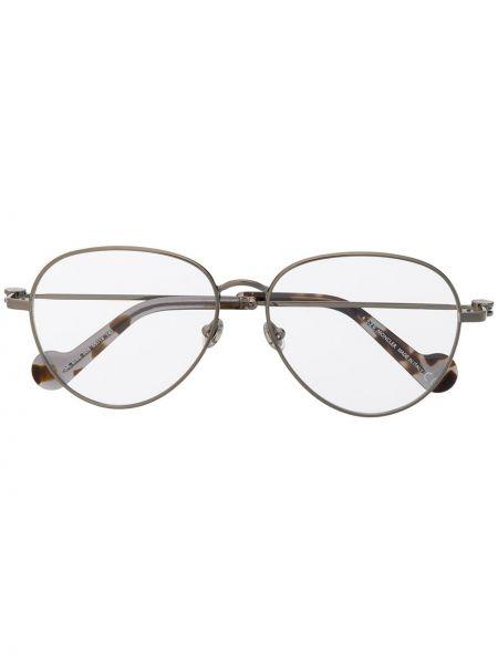 Желтые очки для зрения металлические Moncler Eyewear