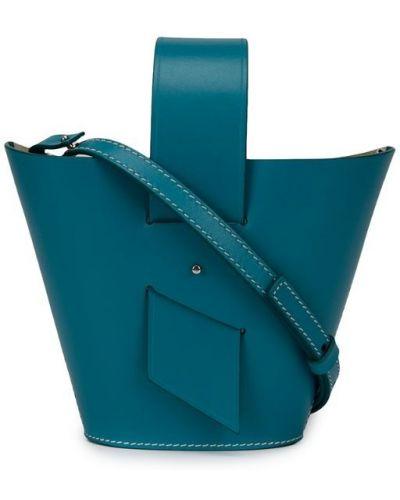 Синяя сумка на плечо круглая Carolina Santo Domingo