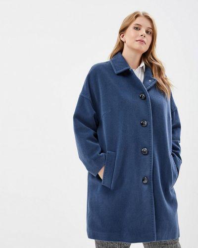 Синее пальто осеннее Gamelia