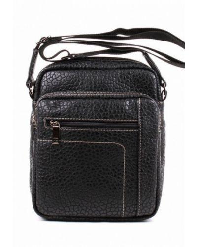 Черная сумка через плечо медведково