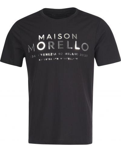 Черная футболка хлопковая Frankie Morello