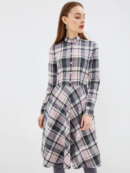 Платье серое прямое Po Pogode