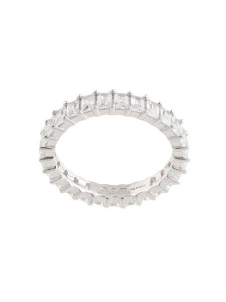 Кольцо с цирконием - серебряное Apm Monaco