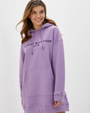 Платье платье-толстовка фиолетовый Tommy Hilfiger