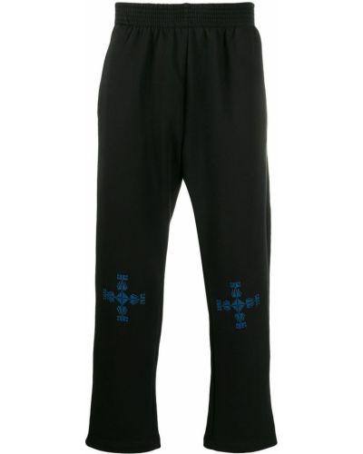 Черные спортивные брюки с поясом Adish
