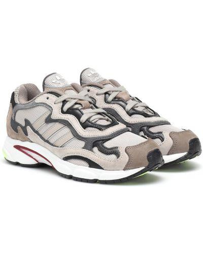 Кожаные кроссовки бежевые Adidas Originals