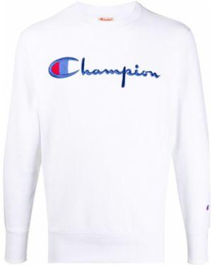 Толстовка белая с вышивкой Champion