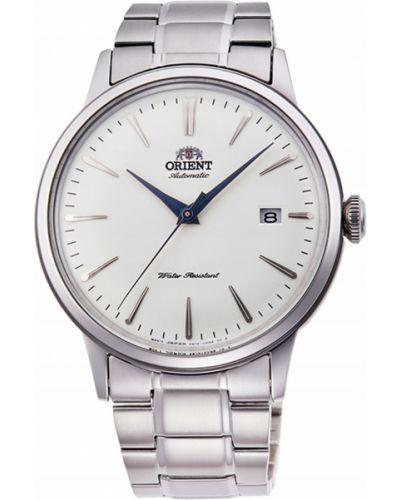 Biały klasyczny zegarek srebrny Orient