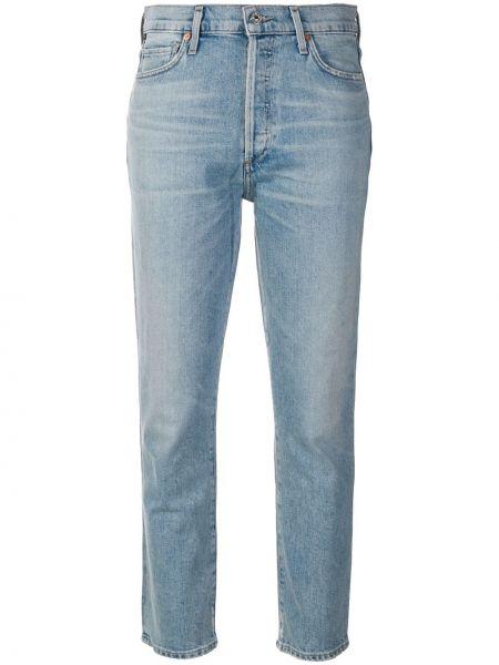 Прямые джинсы синие на пуговицах Citizens Of Humanity