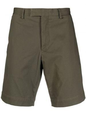 Зеленые хлопковые шорты с карманами Polo Ralph Lauren