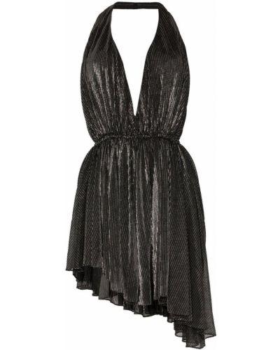 Платье с поясом с открытой спиной с декольте Saint Laurent