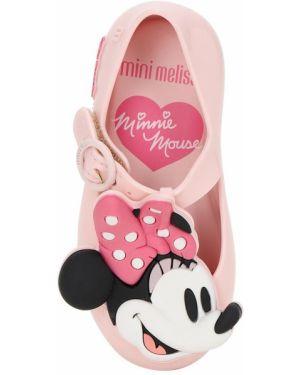 Микки маус с ремешком розовые босоножки с аппликациями Mini Melissa