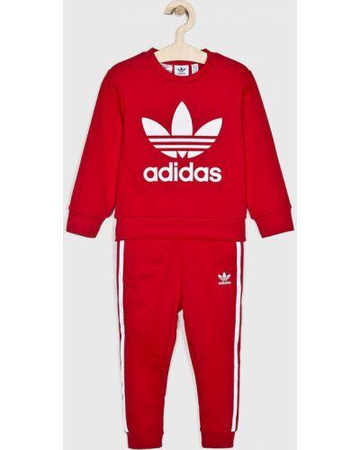 Костюмный красный спортивный костюм Adidas Originals
