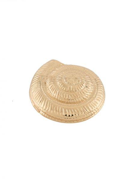Золотистое кольцо металлическое золотое оверсайз Tohum