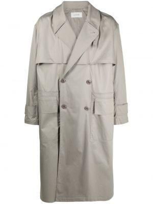 Długi płaszcz z kapturem bawełniany z długimi rękawami Lemaire