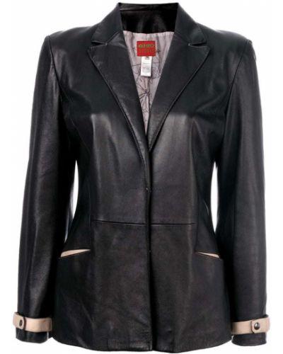 Прямая черная куртка Kenzo Pre-owned