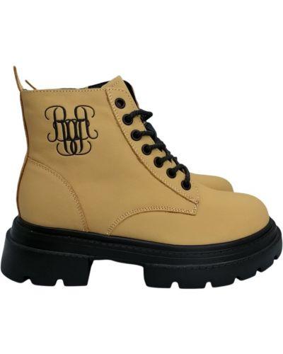 Кожаные ботинки - бежевые Berkonty