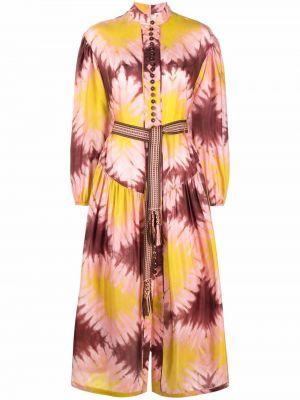Шелковое платье макси - желтое Zimmermann