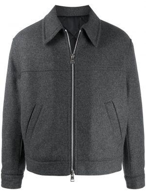 Klasyczna długa kurtka wełniana z długimi rękawami Ami